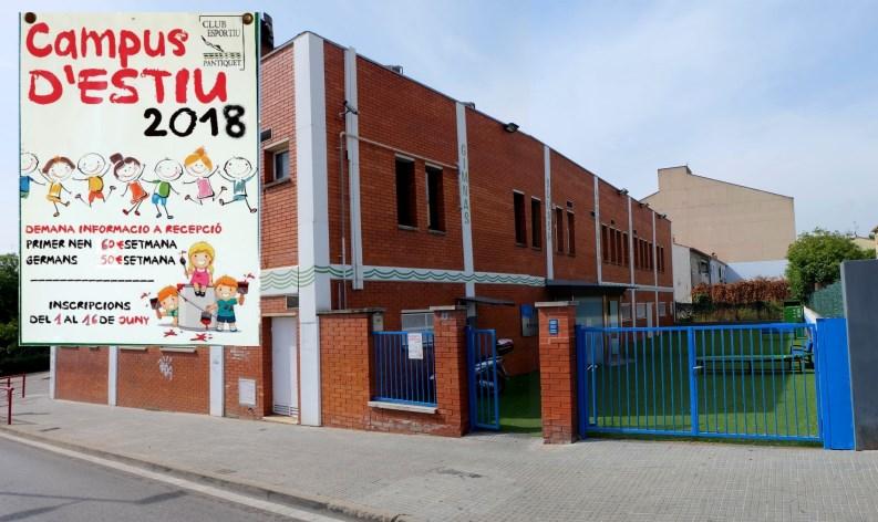 Campus d'Estiu 2018 en Gimnàs Pantiquet Club Esportiu, Mollet del Vallès Barcelona