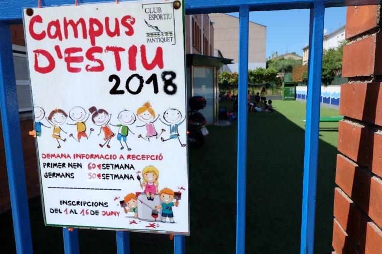 Gimnàs Pantiquet, Club Esportiu Pantiquet,Mollet del Vallès,Barcelona, tel. 935937750, Campus d'estiu 2018