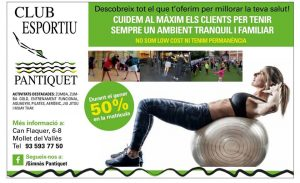 Fitness y gimnasia Mollet en Club Esportiu Pantiquet, Mollet del Vallès, Barcelona 2019