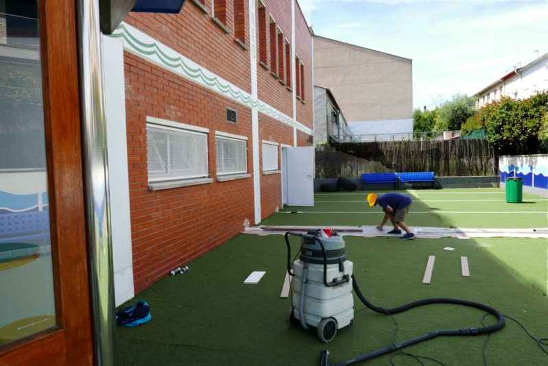 Actividades patio Gimnàs Pantiquet en Mollet, para ponernos en forma con medidas de seguridad