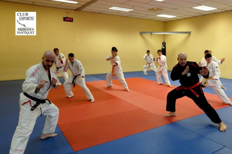 Artes marciales, Jiu Jitsu en Club Esportiu Pantiquet con medidas de higiene y seguridad